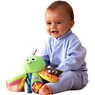 正品 Lamaze 拉梅茲 我的綠色八爪章魚  嬰兒床玩具 嬰兒車玩具 抓握玩具 認知玩具 感官玩具 聲光玩具 寶寶安撫玩具