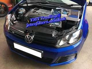 🚚 #jetexfilters_vw. #jetexfiltersasialink. Vw Golf Mk6 R in the house to replace Jetex Racing Performance drop in air filter with 1.14 Kpa flow rate washable & reusable.