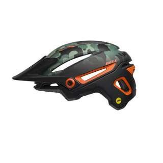 Bell Sixer MIPS - Matte Black/Dark Green/Orange (Camo Green/Orange)