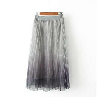 DB513 滌綸料漸變色橡筋腰半截裙 (XL XXL)
