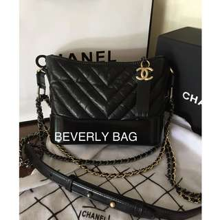 afa7c768b2d6 Jual Tas Mirror Chanel Gabrielle Tas Ori Leather Mirror - hitam