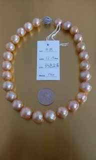 天然珍珠 鈣色金黃 零售批發