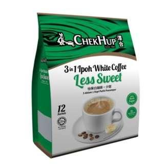 Chek Hup White Coffee Less Sweet (35gx12s) [Exp 06/19]