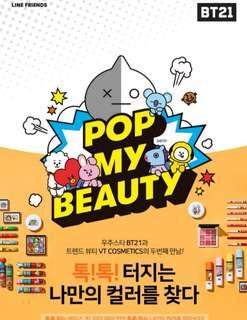 🚚 Quick preorder! Official bangtan boys bts vt bt21 art in makeup new goods collaboration