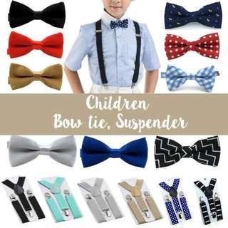 🚚 Children Suspenders Bow tie Baby Boy Junior Kids