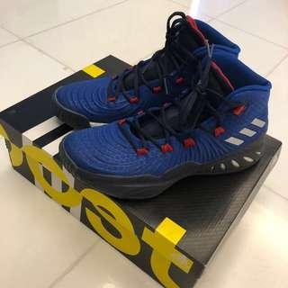 Adidas Basketball Shoe Crazy Explosive Boost 2017 - Size UK10 (Blue)
