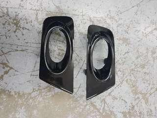 Stream fog light cover painted to Glossy black
