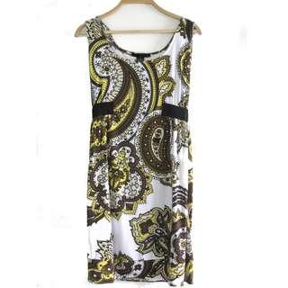US Paisley Printed Stretched Dress