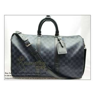 79fe1aac4f8a Authentic Pre-Owned Louis Vuitton Monogram Damier Cobalt Keepall 45