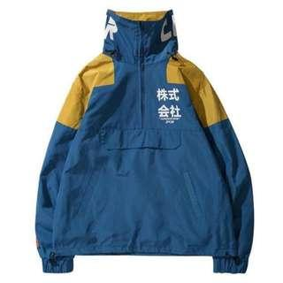 """Ryu"" Half Zip Windbreaker Jacket"