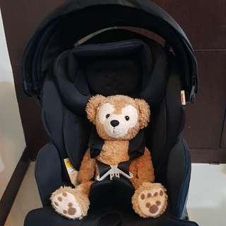 Aprica 愛普力卡 Fladea grow 系列HIDX 三段式平躺型嬰幼兒汽車安全座椅+三段式遮陽罩