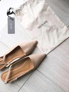 This Is April Cream Flat Shoes