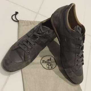 Hermes Men Leather Shoe - Size 44 (Grey)
