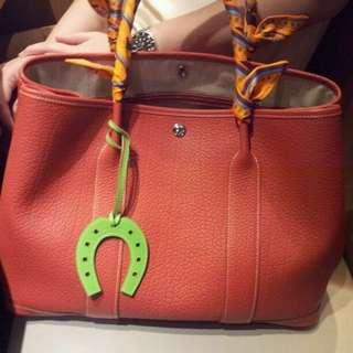 Hermes Horseshoes Charm In Lime Color