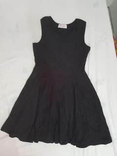Bling bling black flare dress