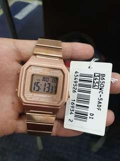 Jam Casio Original B650WC-5A Untuk Wanita Dewasa