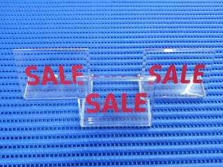 """3X Acrylic """"SALE"""" Signs Width = 76mm Height = 56mm ( Lot of 3 Pieces )"""