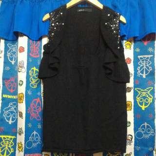 (⚡快閃$35) As Know As black knit vest