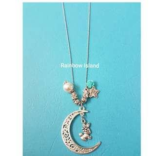 Bunny Crescent Long Necklace