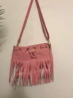 Pink tassel bag