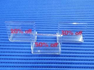 """3X Acrylic """"20%"""", """"30%"""" & """"50%"""" Signs Width = 76mm Height = 56mm ( Lot of 3 Pieces )"""