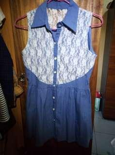 🚚 無袖藍色洋裝