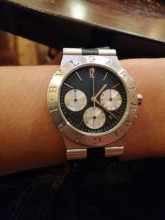 Bvlgari diagono rubber stainless steel Chronograph ch35s