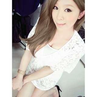 二手純白色透膚罩衫可搭比基尼  含運NT260