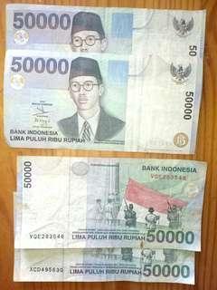 Uang kertas jadul asli 50000