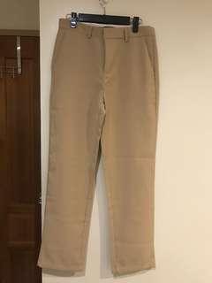 🚚 卡其褲 九分 奶茶色 直筒 西褲 寬鬆