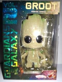 絕版 Log on 限定 groot 絨毛版 marvel hottoys cosbaby avengers infinity war guardians of the galaxy