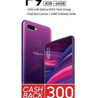 Promo cash back oppo f9