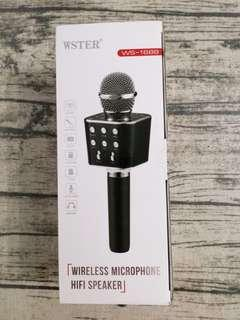WSTER WS-1688 Wireless Microphone Hi-fi Speaker
