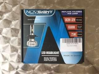 Novsight A500-N15 LED Headlamp 9005 HB3 6,500k 10,000lm 25W