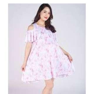 95905c517ebac JEC Jumpeatcry Kaylee Cold Shoulder Maternity and Nursing Wear Mothercot Dress  jump eat cry