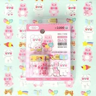 韓國🇰🇷大創紙膠帶 小狗🐶兔子🐰