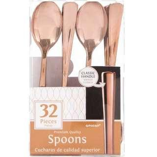 Amscan Gold /Rose Gold Premium Spoon