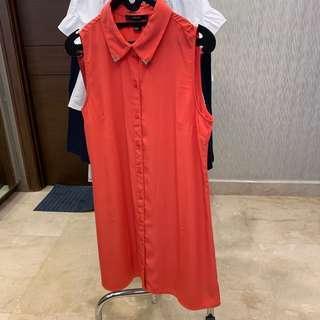 Forever21 Summer Dress Orange / Oranye (preloved)