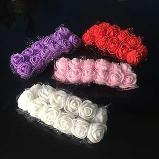 12pcs ARTIFICIAL FOAM FLOWERS