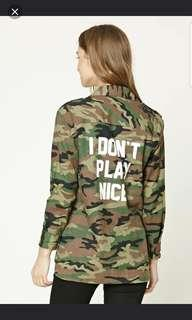 Forever 21 Camo Flannel/Outerwear