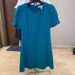 Forever 21 Dress Hijau Tosca [preloved]
