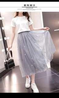 🚚 Brand New Grey Tulle Skirt