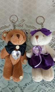 🚚 情侶熊熊鑰匙圈,一對,近全新,可面交。