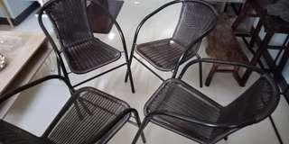 Steel frame Pvc Wicker style - 4pcs