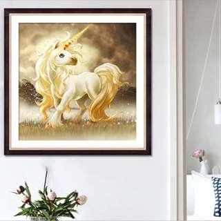 DIY [Unicorn] Full Diamonds Painting / Diamond Mosaic (Canvas Size: 40x40cm)