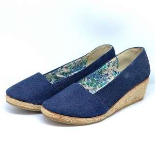 Sepatu Wedges Wanita Canda Jeans Second
