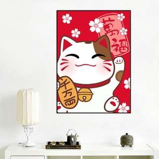 DIY [Fortune Cat] Full Diamonds Painting (Canvas Size: 30x40cm)