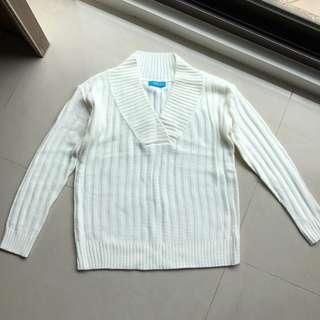🚚 韓製 大V領素色百搭針織衫 MADE IN KOREA #半價衣服市集