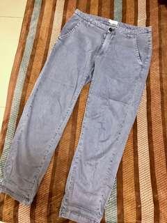 🚚 Volcom 長褲 水洗 灰色 修身 八分褲 長褲