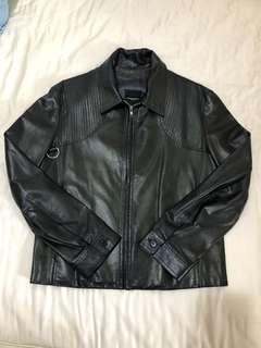 CoSTUME NATIONAL 黑色皮衣